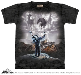 Summoning the Storm Tee Shirt Native American Inspired