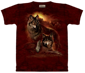 Sunset Wolf Totem T-Shirt