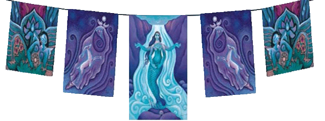 The Awakened Aphrodite Goddess Batik Garden Flags