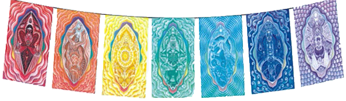 The Chakra Rainbow Batik Garden Flags