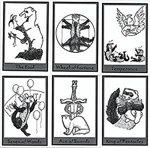 The Ferret Deck Self Published  The Ferret Deck Self Published, cute tarot, beginner tarot, small press tarot, unusual tarot
