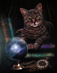 The Fortune Teller Tabby Cat Canvas Art Print by Lisa Parker