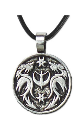 The Lady and The Dragon Pendant Collection  DR4 I am at peace with myself and my world