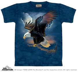 The Patriot T-Shirt Eagle w/ Flag Tee