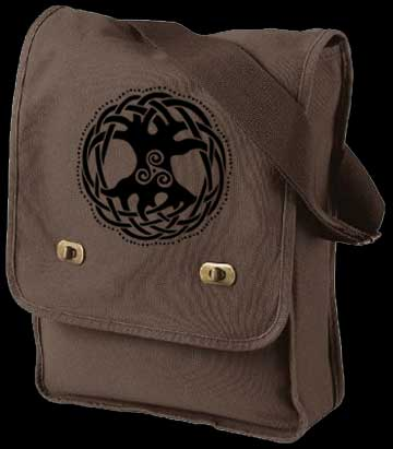 Tree of Life Field Bag Celtic Purse  In Java Brown