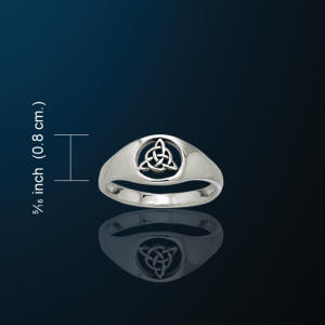Triquetra Ring White Bronze Ring