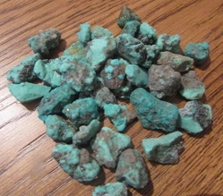 Turquoise, rough, small pieces