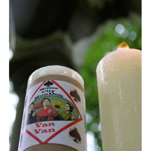 Van Van Candle Hoo Doo Candle by Motor City Hoodoo