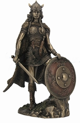 Female Viking Warrior With Sword And Shield