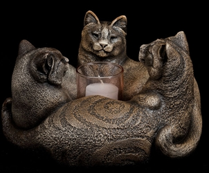 Windstone Editions Candlelamp Trio of Cats Candle Lamp  Windstone Editions Candlelamp Trio of Cats Candle Lamp