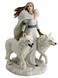 Winter Guardians Wolves Statue by Anne Stokes