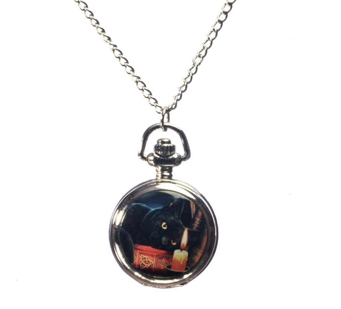 Witching Hour Fantasy Artist Lisa Parker Pocket Watch Necklace