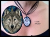 Wolf Pentacle Glass Choker Necklace by Lisa Parker