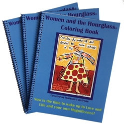 Woman and The Hourglass Uplifting Coloring Book