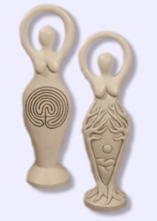 Two-Sided Labyrinth Goddess Statue by Abby Willowroot Two-Sided Labyrinth Goddess Statue by Abby Willowroot