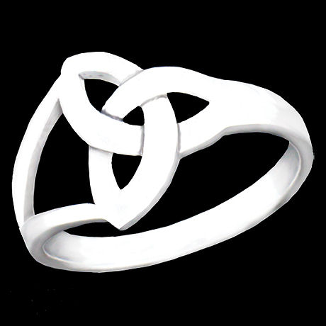 Sterling Silver Modern Trinity Knot Ring