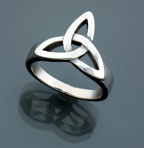 Bold Stainless Steel Triquetra Ring