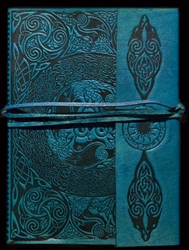 Celtic Ravens Leather Journal by Jen Delyth