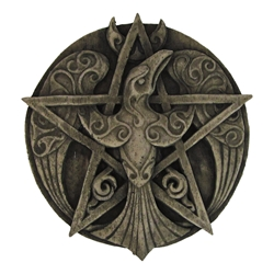 Dryad Designs Crescent Raven Pentacle Plaque by Paul Borda