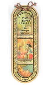Song of India - India Temple Incense - 20 Incense Sticks