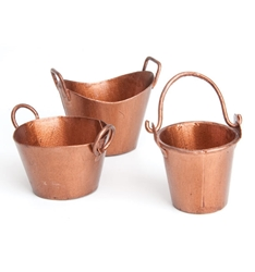 Fairy Garden Miniatures Set of 3 buckets