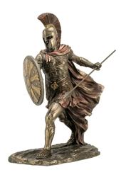 Achilles With Spear & Shield Statue WU76231A4