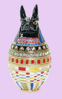 3395 Anubis Jeweled Box