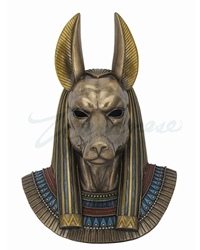 Anubis Bust Wall Plaque