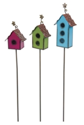 Gypsy Garden Mini Birdhouse Picks - Set of Three Item #: GG143