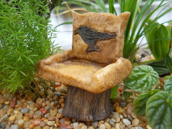 Miniature Black Bird Resin Chair