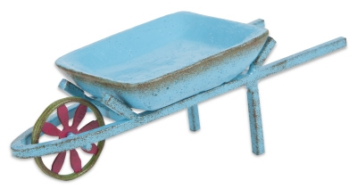 Gypsy Garden Mini Blue Wheelbarrow Item #: GG142