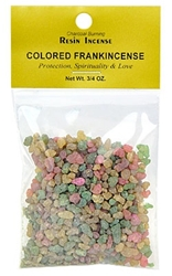 COLORED FRANKINCENSE RESIN INCENSE - 3/4 OZ.