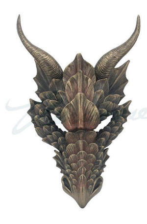 Cool Dragon Mask Wall Plaque