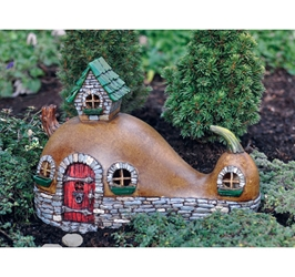 Fairy Garden Miniatures Resin Fairy Village Crookneck Cottage Fairy Home
