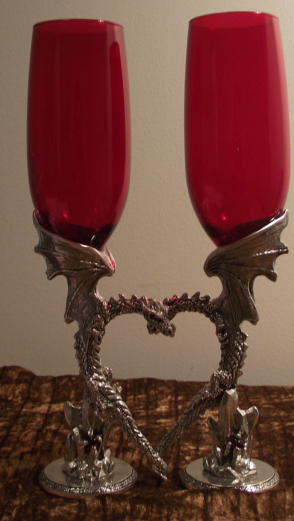 Dragon Heart Glasses Pewter Toasting Glasses At Dhg
