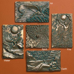 Ann Zeleny Elemental Plaque Set of all Five Elements