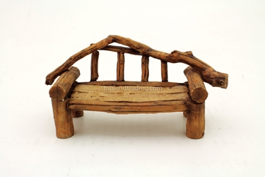 Faux Wood Bench T4113 L: 6.75""
