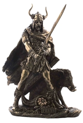 Norse God Freyr Statue