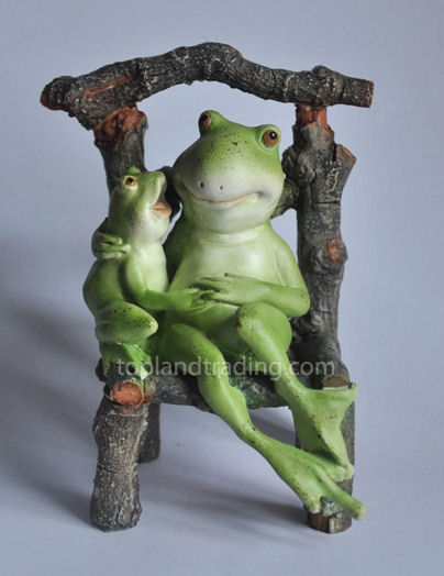 Frog & Little Frog on Chair