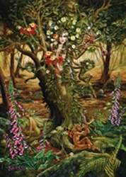 The Dryad Matted Art Print By Briar