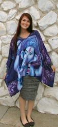 Beautiful Lord Ganesha, Remover of Obstacles, Caftan Top
