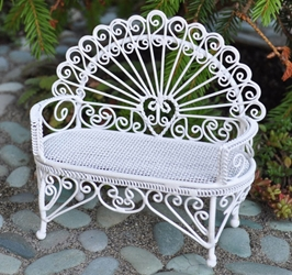 """Cottage Garden"" Miniature Love Seat"