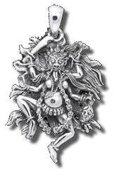 Kali, Dark Goddess of India Pendant