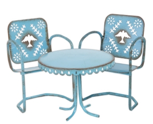 Gypsy Garden Mini Blue Bird Bistro 3 pc set  Item #: GG124