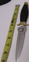 "9"" Totem Owl Pentacle Athame Ritual Knife with Sheath"
