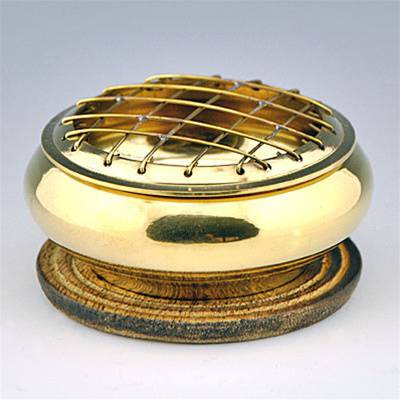 "Brass Screen Incense Charcoal Burner - 3"" Diameter"