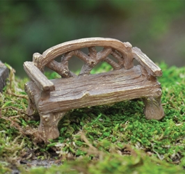 Fairy Village -Resin Rustic Bench