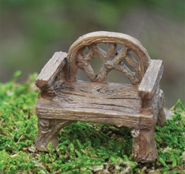 Fairy Village - Resin Rustic Chair