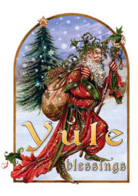 Yule Blessings RYB09 - Briar Mid Winter Card