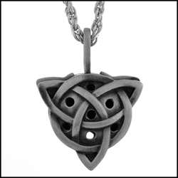 Trinity Knot Triquetra Aromatherapy Diffuser Necklace Trinity Triquetra Aromatherapy Diffuser Necklace< Charmed Symbol Pendant